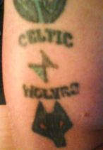Celtic/Wolves Tattoo, circa 1989